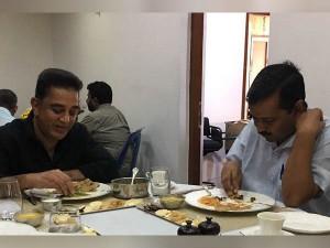 Arvind Kejriwal Kamalhaasan Meeting Lunch Or Launch