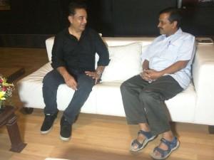 Delhi Cm Arvind Kejriwal Meets Kamalhassan Chennai
