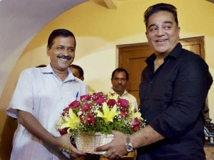 Actor Kamalhassan Meets Press After Discussion With Delhi Cm