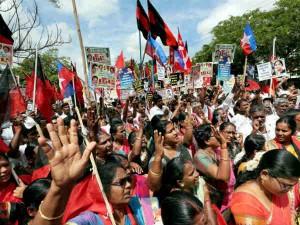 All Party Protest Chennai Tambaram Against Neet Exam
