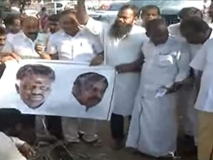 Cm Dy Cm S Effigy Are Burnt Dinakaran Supporters