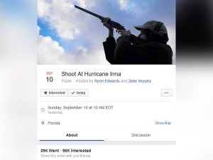 Shoot At Hurricane Irma An Facebook Page Going Viral