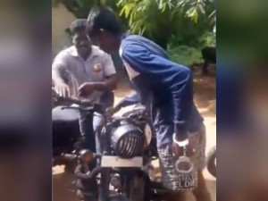 Royal Enfield Bike Lock Opening Video Going Viral