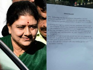Here Is The Sasikala S Conditions Parole