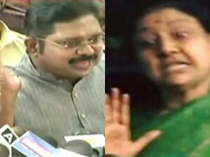 Sasikala Opposes Dinakaran Contest Rk Nagar Poll