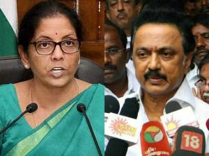 Stalin Accuses Central Minister Nirmala Seetharaman