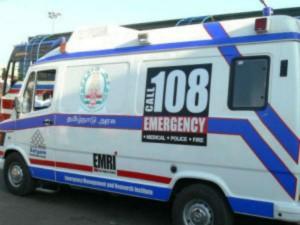 Ambulance Government Bus Met Accident Villupuram