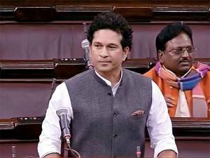 Tendulkar S First Speech Rs Disrupted Over Modi S Remark Against Congress