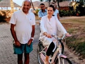Sonia Gandhi Relaxing This Year End At The Leela Hotel South Goa