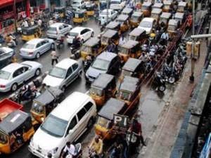 Chennai Ponnamalle Central Railway Station Roads Were Blocked Vehicles