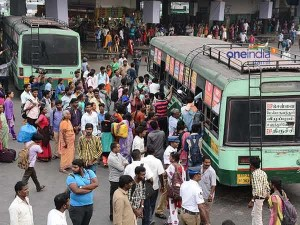 Temporary Bus Stands Formed Pongal Festival Travels
