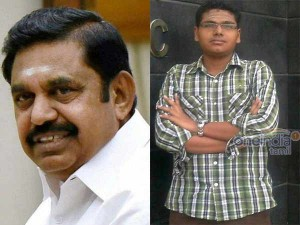 Cm Palanisamy Announces Rs Three Lakh Solatium Students Family