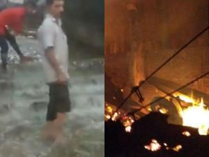 Flood Fire People Scared Incidents Madurai Meenakshi Amman