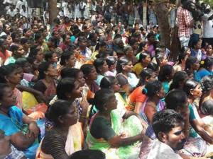 People Protested Against Ongc At Kadambangudi Tiruvarur District