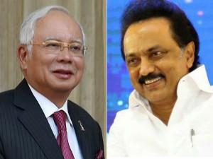 Dmk Working President Stalin Meets Malaysian Prime Minister Najib Razak