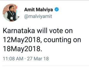 Before Election Commission The Bjp National It Wing Announce The Karnataka Election Date