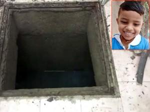 A Three Half Year Old Boy Killed A School Septic Tank Near Porur