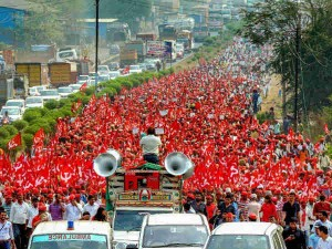 Maharashtra Farmers All Indian Kisan Sabha Arrive Mumbai