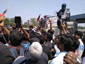 Political Parties Protest Against H Raja