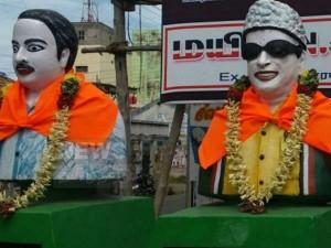 Saffron Dress Periyar Anna Mgr Statue Namakkal