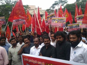 Naam Thamizhar Party Geroed Front Srilankan Emphassy At Chennai