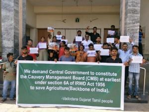 Cauvery Issue Vadodara Gujarat Tamil People Protest