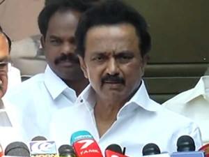 Stalin Coming Back Chennai Tonight Itself