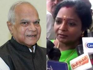 Tamil Nadu Bjp Leader Tamilisai Meets Governor Banwarilal Purohit