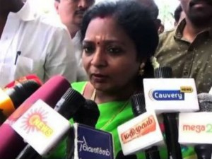Kanimozhi Also Should Resign Her Mp Post Like Admk Mp Muthukaruppan Tamilisai