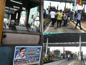 Nam Thamizhar Katchi Cauvery Issue Kodairoad Toll Gate Pummeled