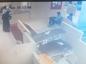 Cctv Scene Robbery Madurai Branch Indian Bank