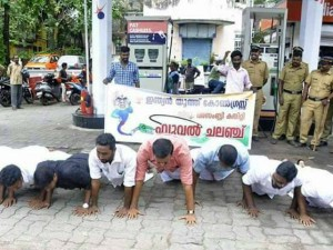 Mallu S New Version Protest Trolls Modi Fitness Challenge And Petrol Price Hike In One Stone