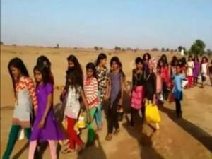 School Girls Walk 4 Km Toilet
