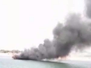 A Tourist Boat Got Fire Godavari River Andhra