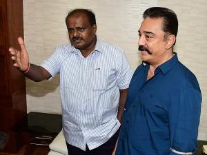 Kamal Went Karnataka The Safe Release His Movie
