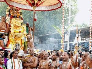 Tirupathi Bramhosthavam Chakrasnanam Ritual Performed At Tirumalai
