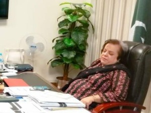 Netizens Troll Pakistan S Human Rights Minister Who Was Sleeping In Her Office