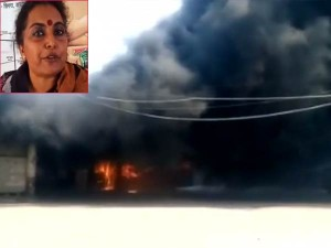 Varanasi Stopped From Meeting Pm Modi Woman Sets Bus On Fire