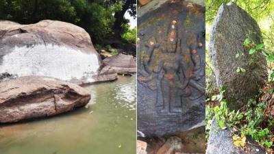 தெள்ளார் அருகே 2500 ஆண்டுகள் பழமையான குத்துக்கல், கல்வெட்டு கண்டுபிடிப்பு!