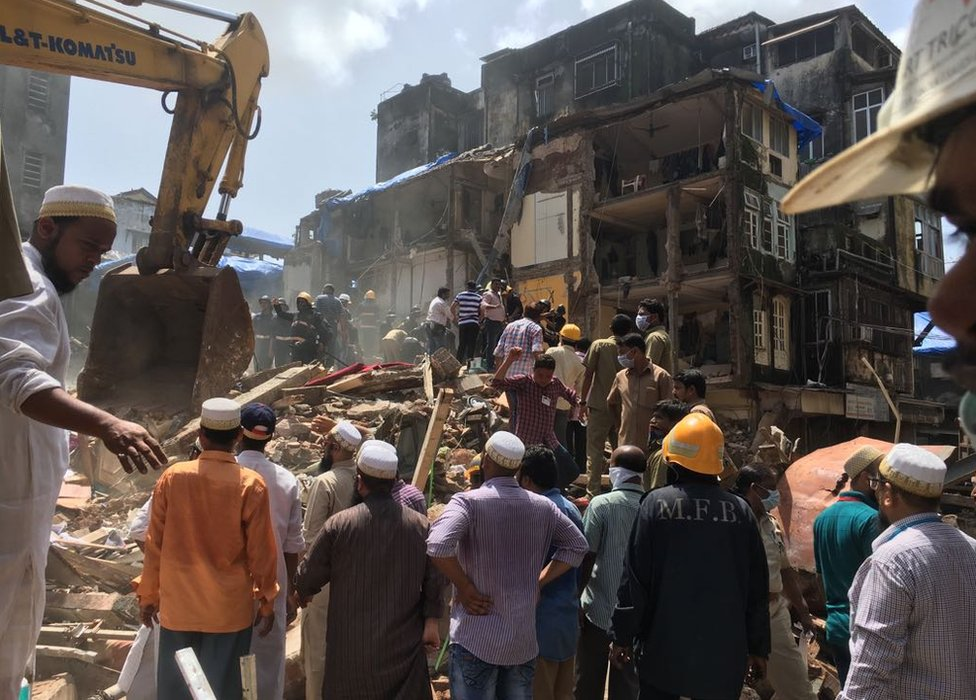 Building collapse in Mumbai on 31 August